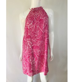 Ruched Neck Fuchsia