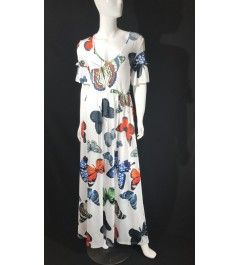 Butterflies long dress