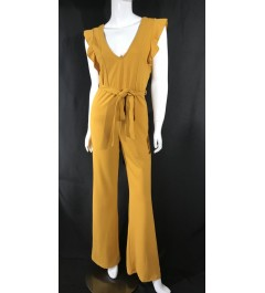 Mustard V Neck Jumpsuit
